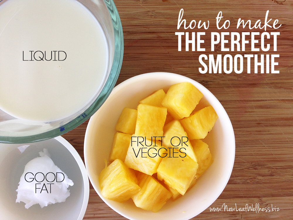 The perfect smoothie recipe