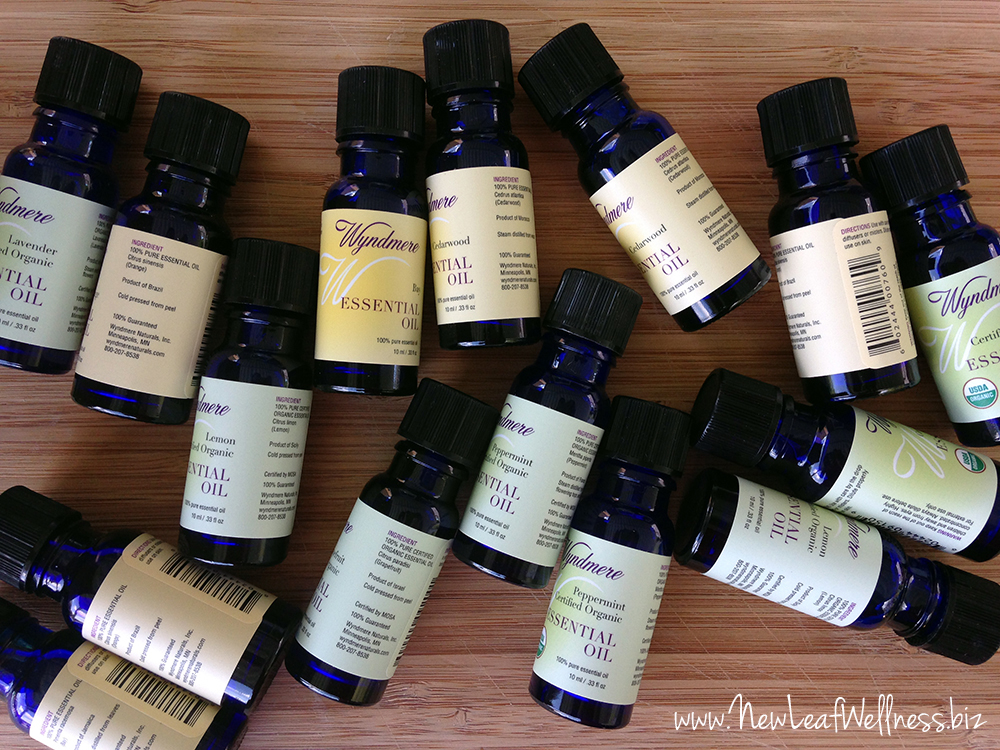 Homemade bath and body products made with essential oils