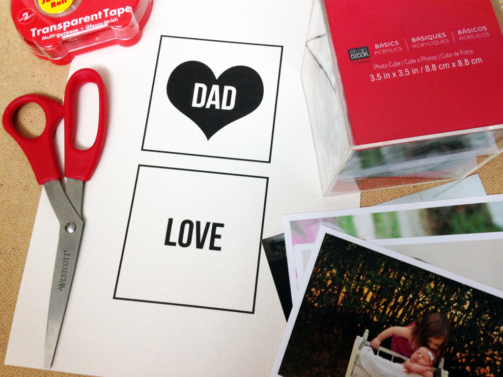 Father's Day photo cube materials