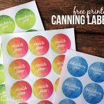 Free printable canning labels for jam