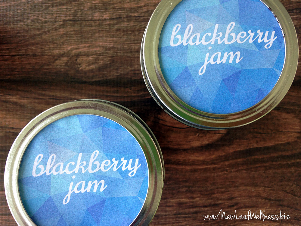 Free printable labels for blackberry jam