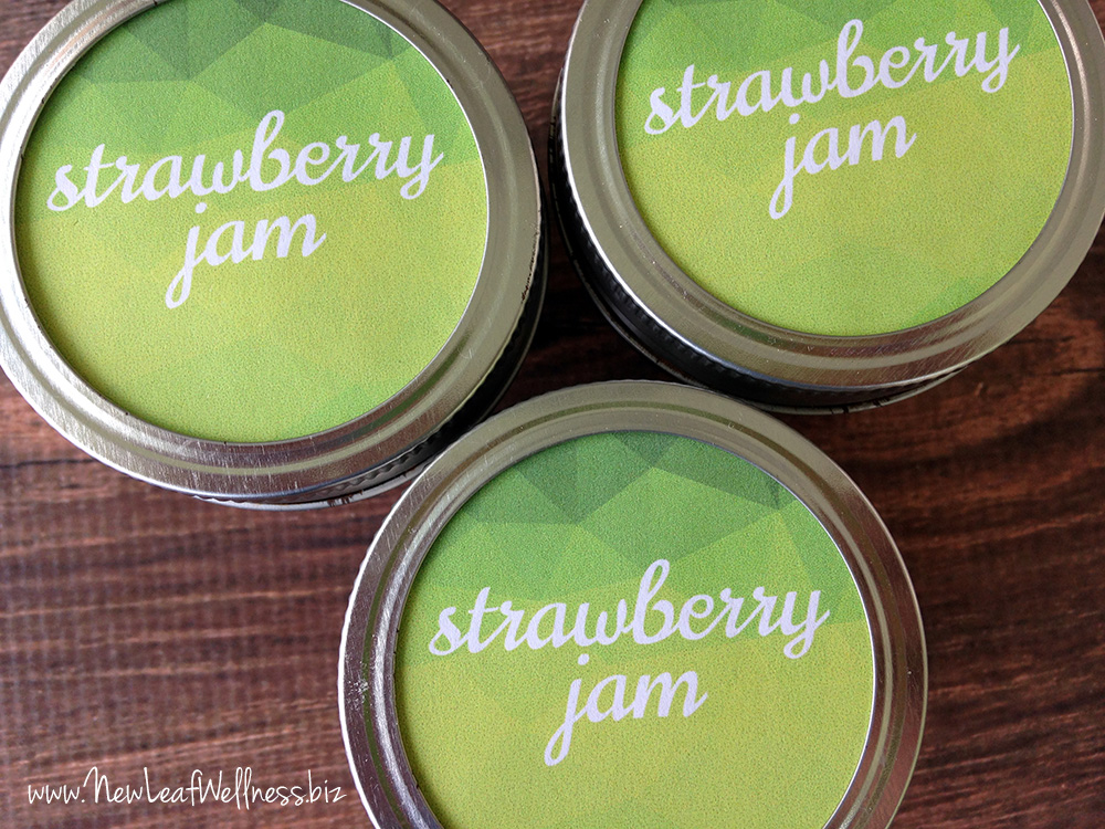 Free printable labels for strawberry jam
