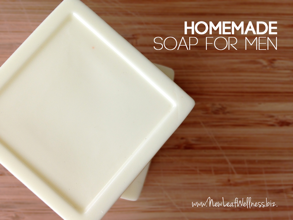 Homemade soap for men with essential oils