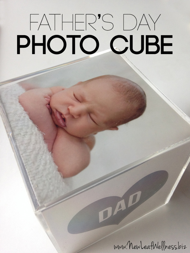 Last minute Father's Day photo cube diy