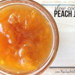 Peach slow cooker jam recipe