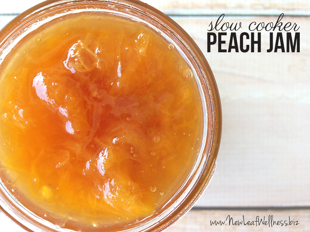 Slow Cooker Peach Jam Recipe