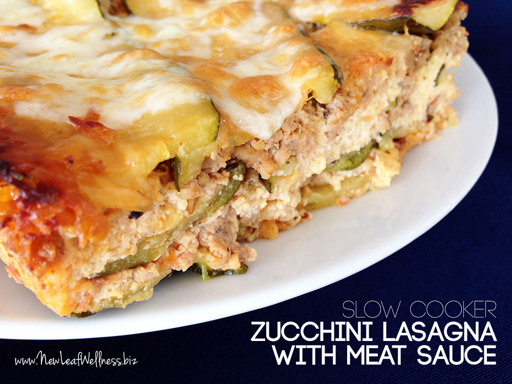Slow Cooker Zucchini Lasagna with Meat Sauce