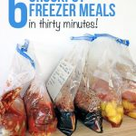 Six freezer crockpot meals in 30 minutes