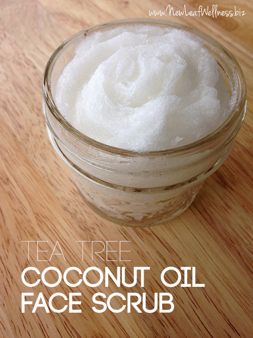 Homemade Tea Tree Coconut Oil Face Scrub The Family Freezer