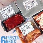 How to prep six freezer meals in an hour (including clean up!)