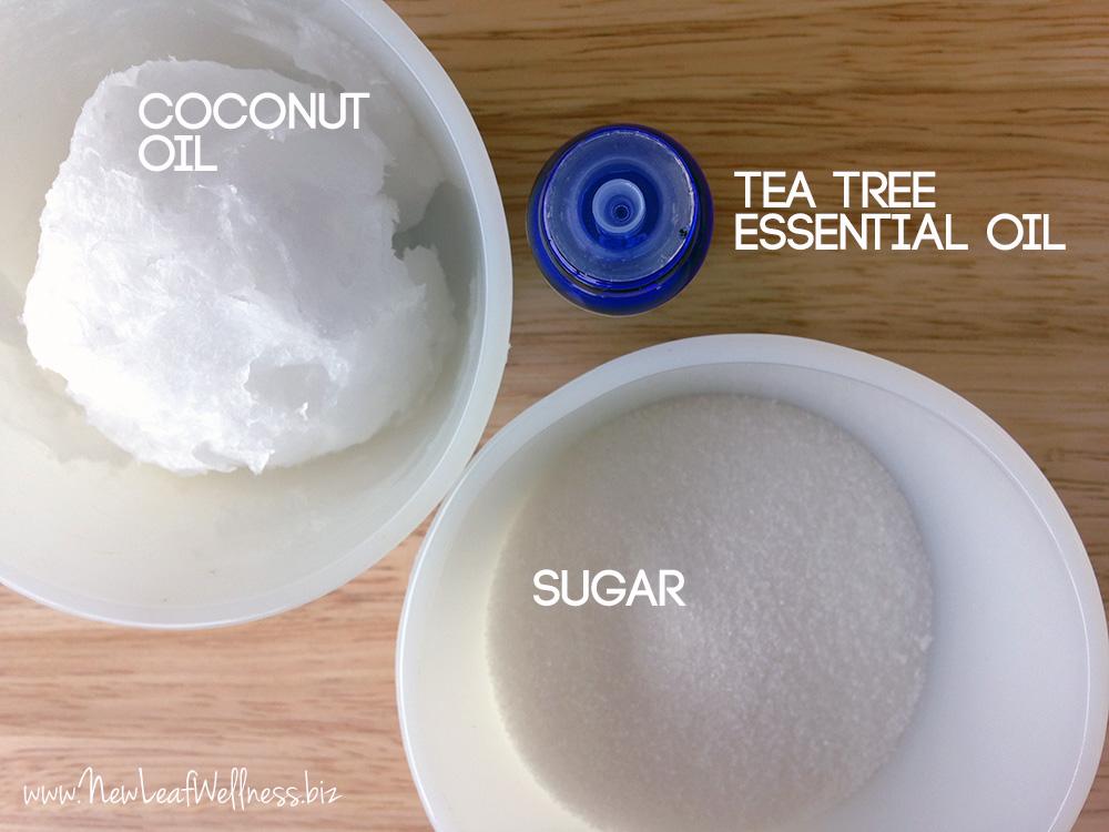 Natural facial scrub sugar