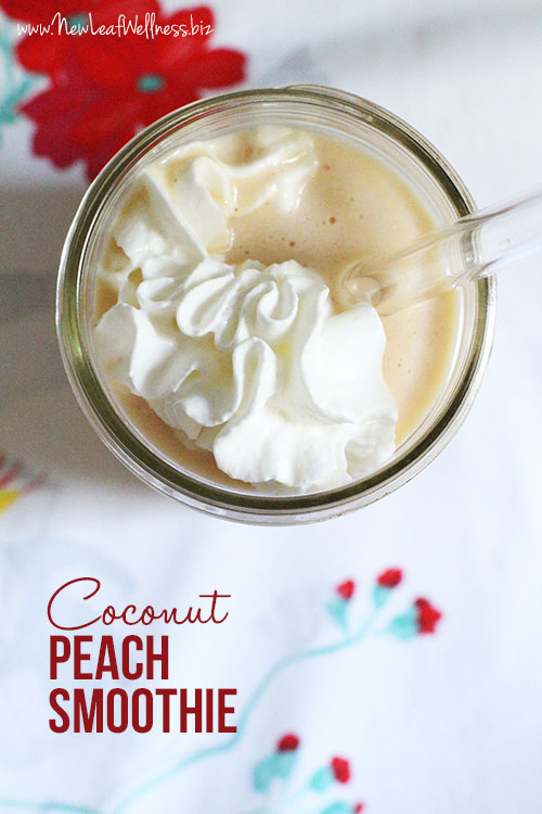 Coconut Peach Smoothie