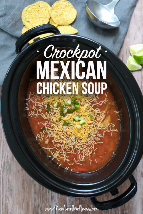 Crockpot Chicken Soup with Mexican Seasonings