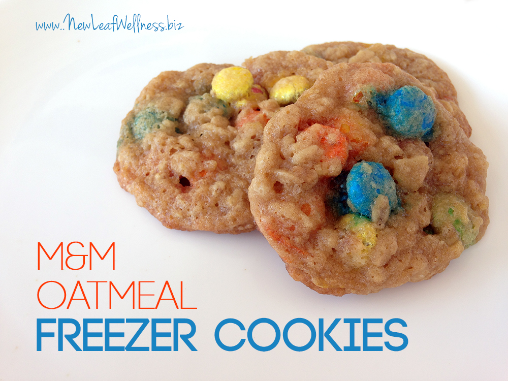 Freezer Cookie Recipe with Oats and M&M's