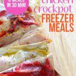 Six chicken freezer crockpot meals in 30 minutes