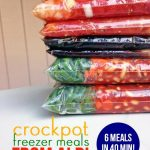 Six crockpot freezer meals from Aldi in 40 minutes