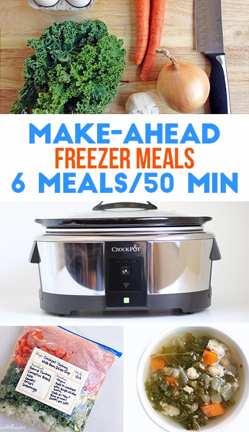 Six Make-Ahead Freezer Meals in 50 Minutes