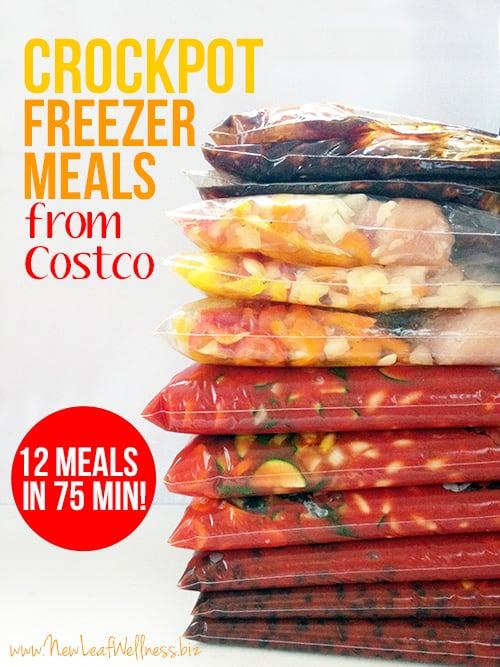 Crockpot Freezer Meals from Costco