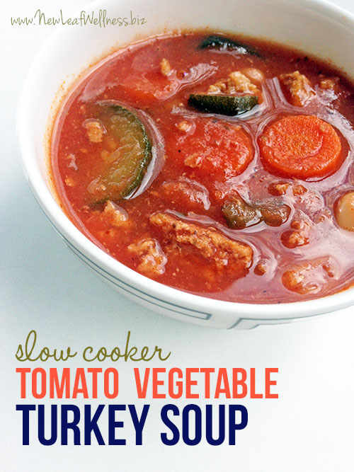 Crockpot Tomato Turkey and Vegetable Soup