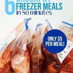 Six cheap freezer crockpot meals in 50 minutes (only $5 each!)