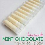 DIY mint chocolate chapsticks