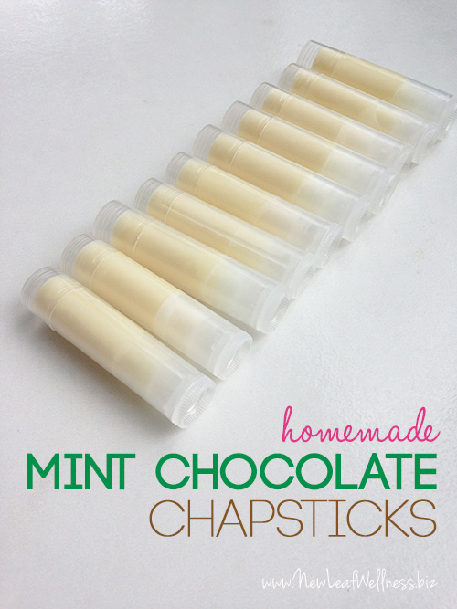 DIY Mint Chocolate Chapsticks