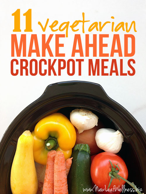 11 Vegetarian Make Ahead Crockpot Recipes