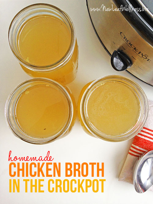 Homemade Chicken Broth in the Crockpot