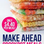 Make ahead crockpot meals (only $4.40 per meal!)