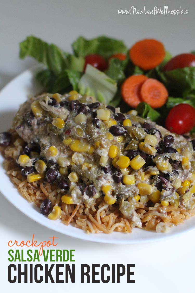 Crockpot Salsa Verde Chicken Recipe