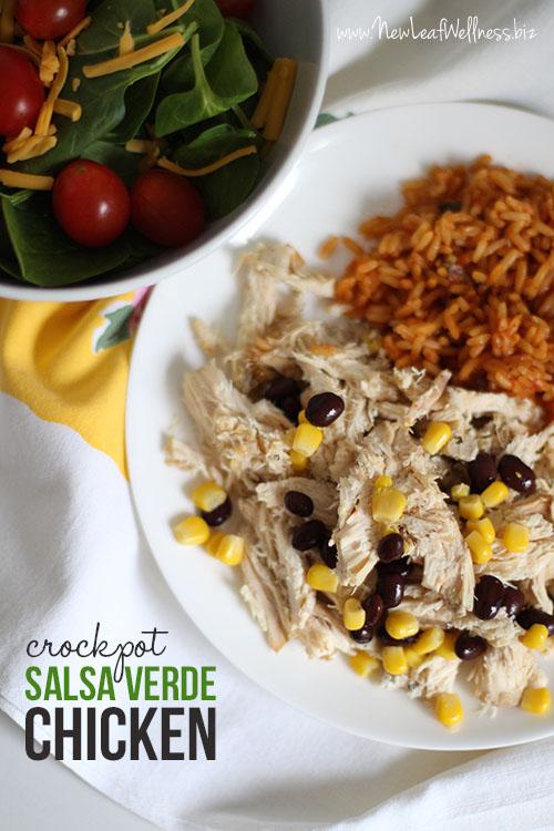 Salsa Verde Crockpot Chicken Recipe