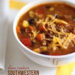 Slow cooker southwestern pork chili