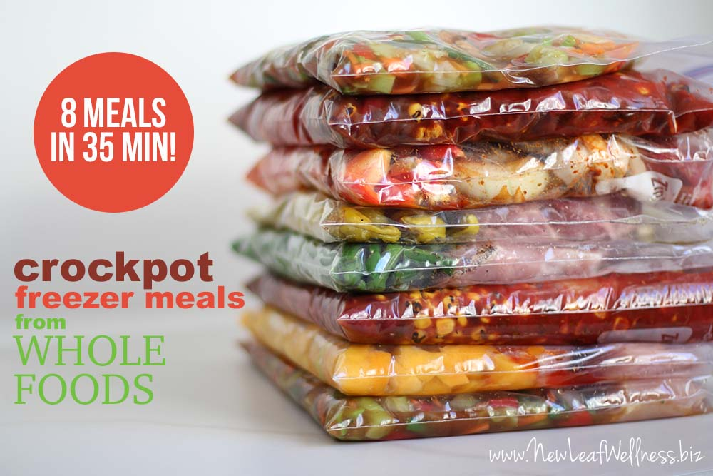 Crockpot Freezer Meals From Whole Foods 8 In 35 Min