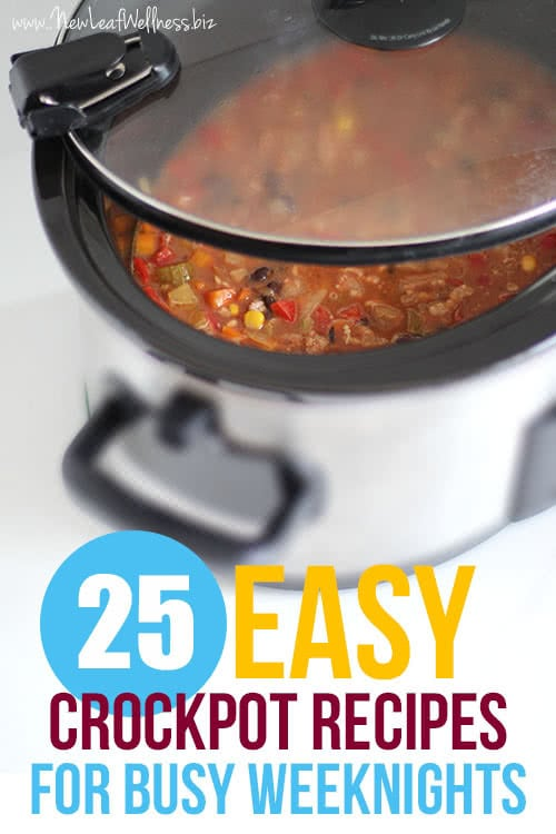 25 Easy Crockpot Recipes For Busy Weeknights