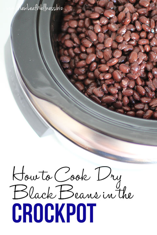 How to Cook Dry Black Beans in the Crockpot