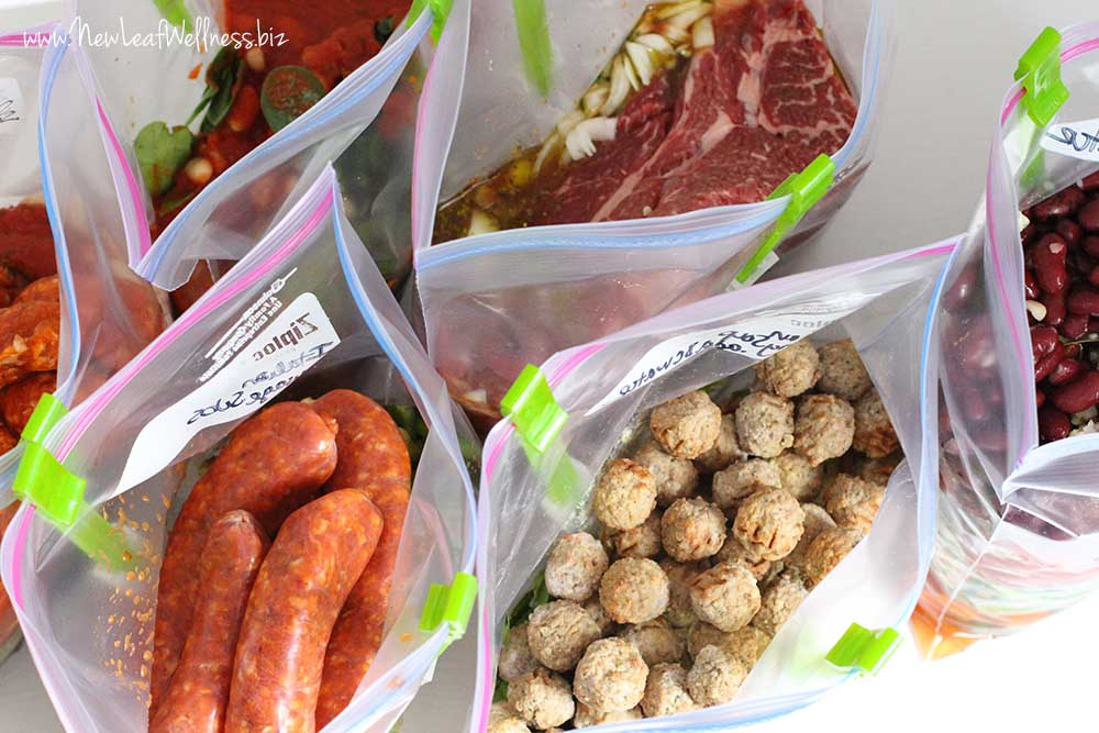Italian Crockpot Freezer Meals (7 meals in 75 min!)