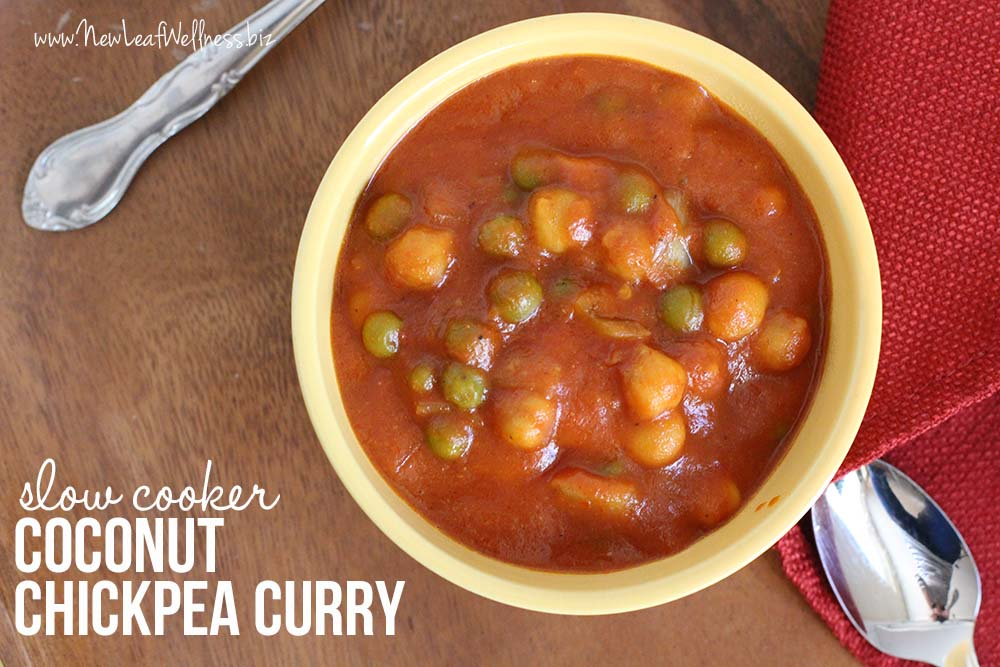 Slow Cooker Coconut Chickpea Curry
