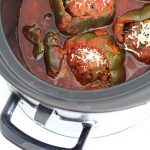 Slow Cooker Stuffed Peppers (Freezer-Friendly!)