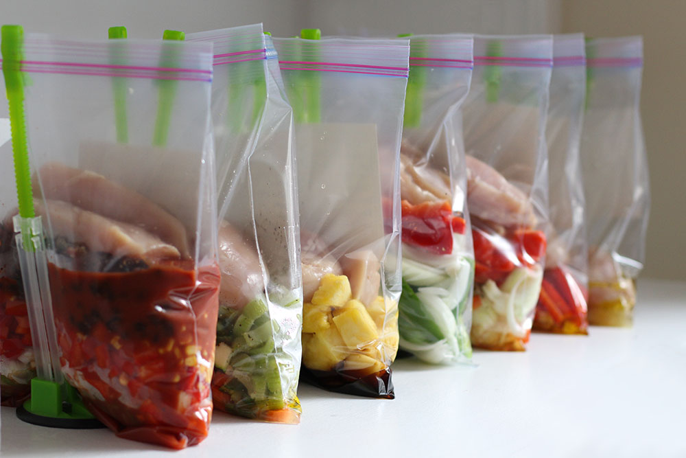 Make 7 Healthy Chicken Crockpot Freezer Meals In Under An Hour!