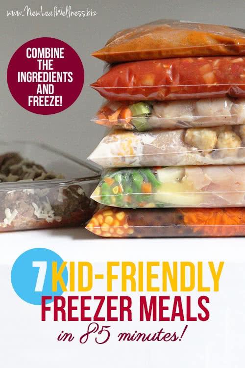 7 Kid-Friendly Freezer Meals in 85 Minutes