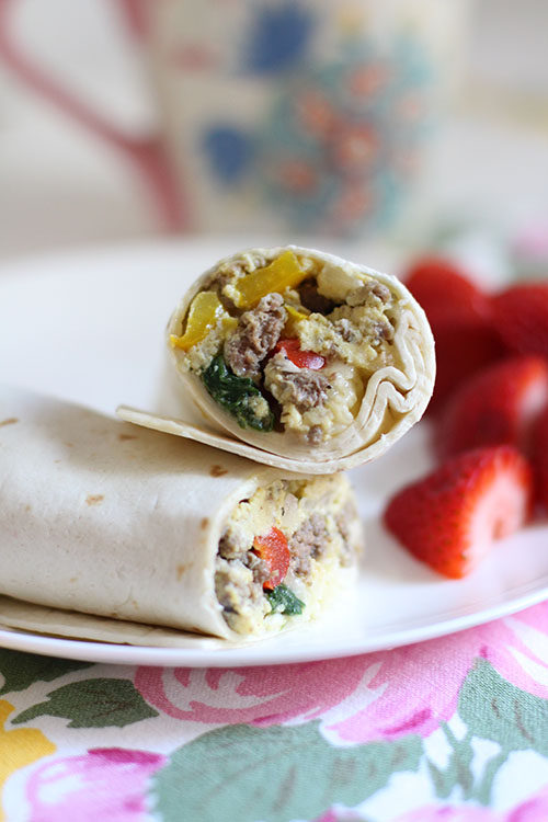 Freezer to Microwave Breakfast Burritos
