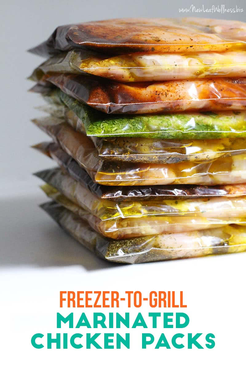 10 Freezer to Grill Marinated Chicken Packs in 20 Minutes
