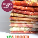 10 slow cooker freezer meals in 2.5 hours