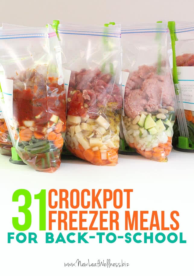 31 Crockpot Freezer Meals for Back-to-School