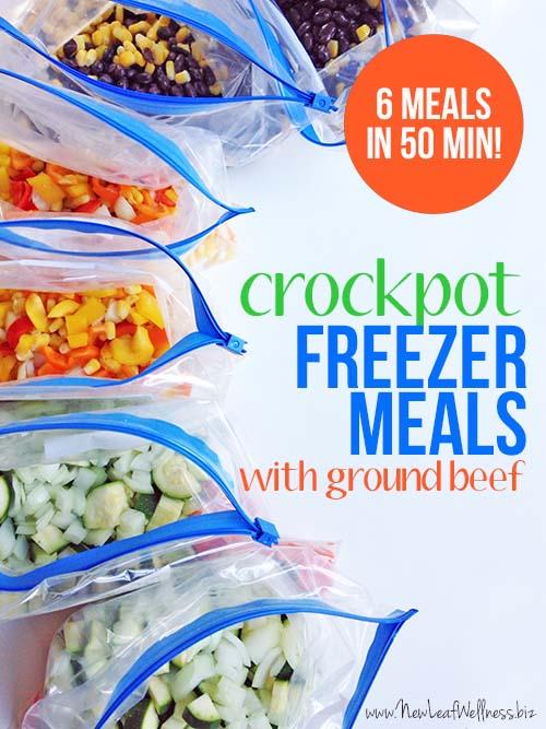 Crockpot Freezer Meals Made With Ground Beef