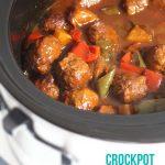Crockpot Sweet and Sour BBQ Meatballs