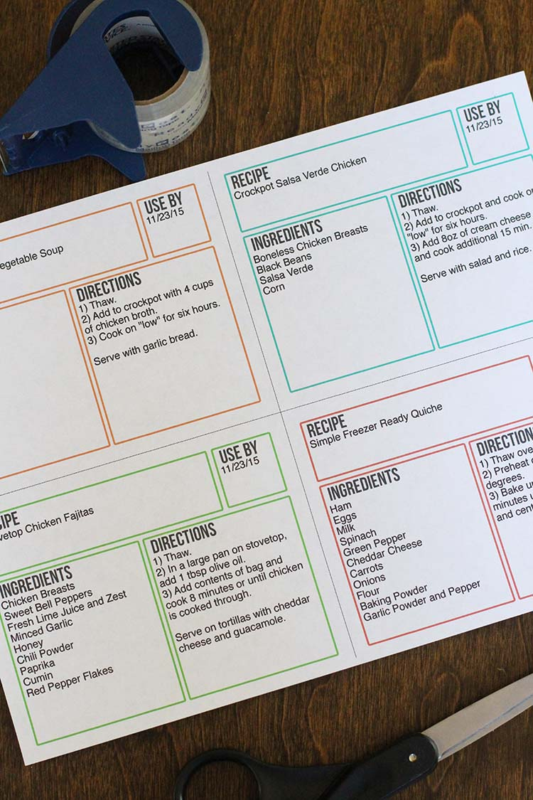 Free Freezer Labels That You Can Edit, Save, and Print!