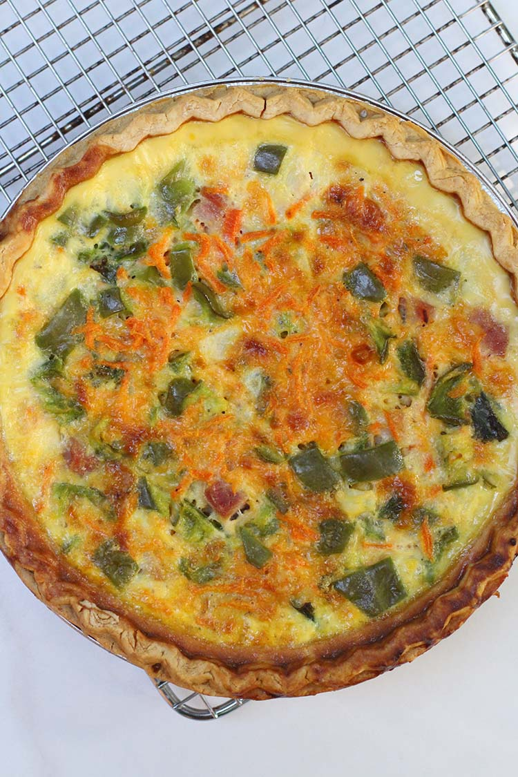 Simple Freezer Ready Quiche
