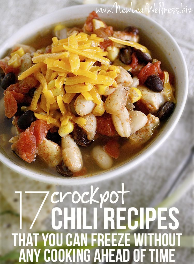 17 Crockpot Chili Recipes That You Can Freeze without Any Cooking Ahead of Time