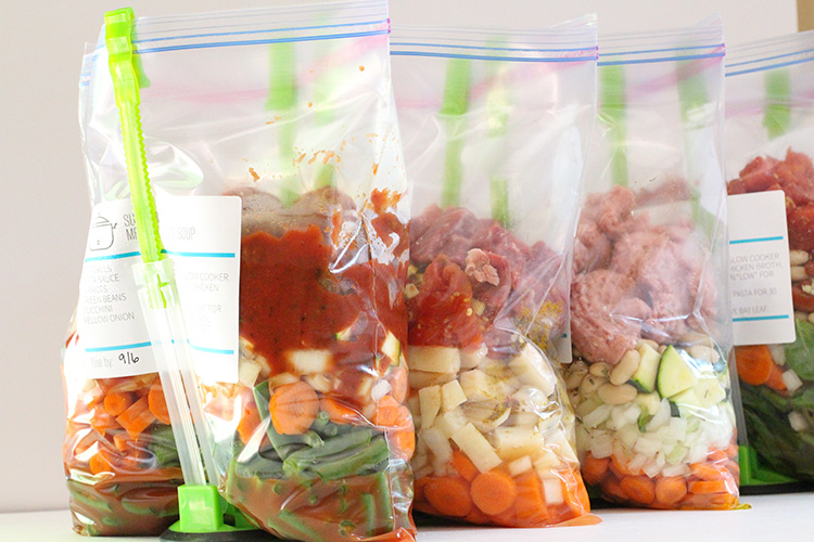 25 Crockpot Freezer Meals with Five Ingredients or Less